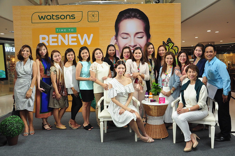 Watsons Marketing Team with Ken Fabres Group Marketing Manager and Viki Encarnacion Marketing Director