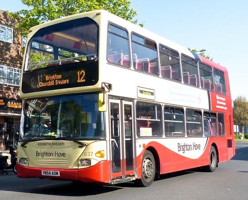 YH54 AOM 'Brighton & Hove No.  637 Scania N94UD OmniDekka / East Lancs on 'Dennis Basford's railsroadsrunways.blogspot.co.uk'