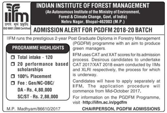 IIFM Bhopal PGDFM