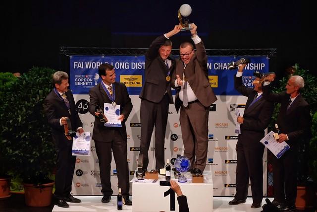 61st Coupe Aéronautique Gordon Bennett - prize-giving ceremony