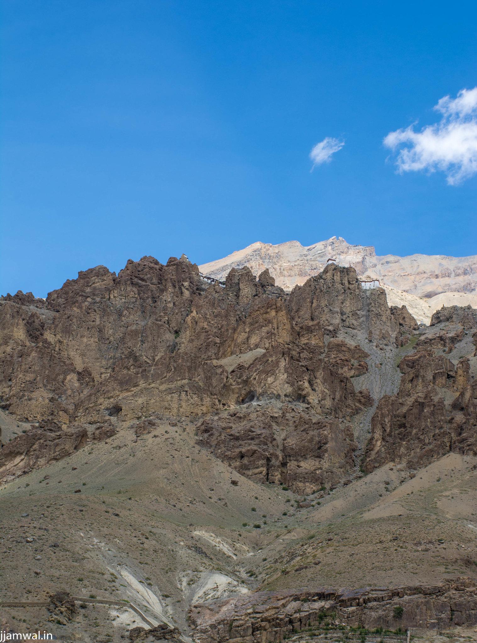 View of Dhankar from below