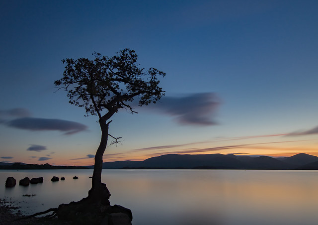 Blue hour at Milarrochy