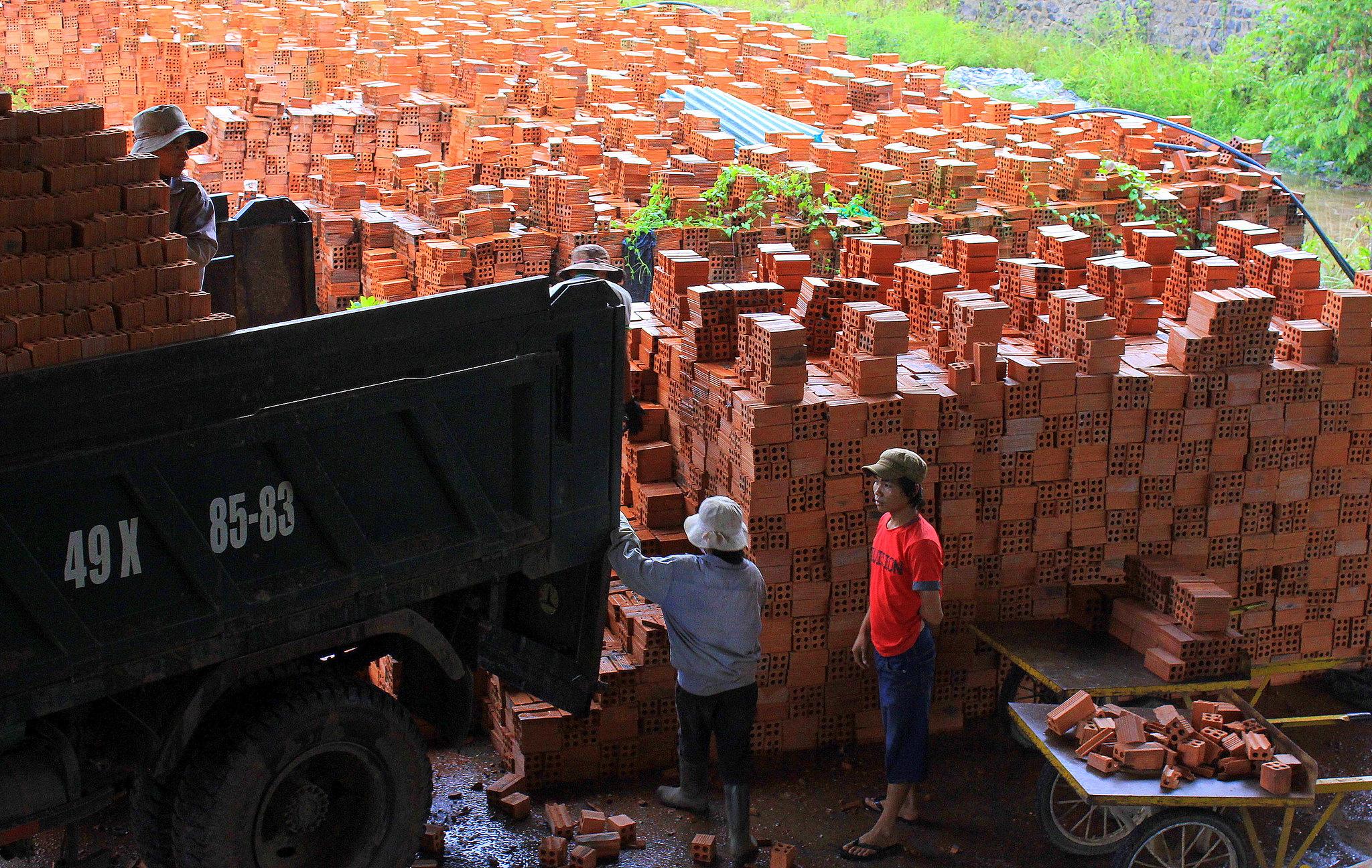Brick making kilns of Central Highlands of Vietnam