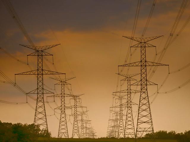 Electric Pylons, Durham Region, Ontario, Canada