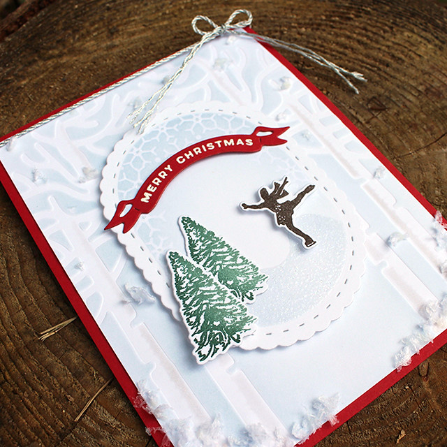 Christmas Figure Skater Card 4