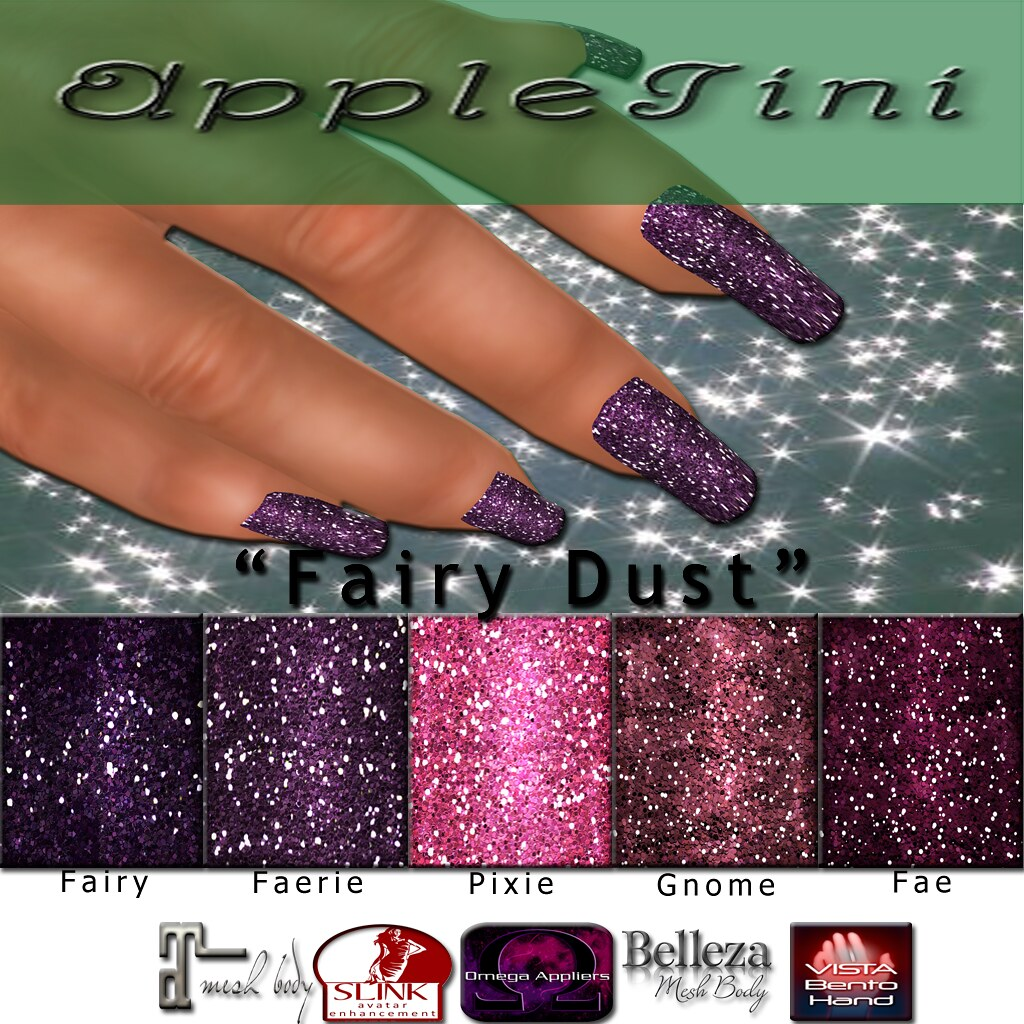 AppleTini Fairy Dust Nails - SecondLifeHub.com
