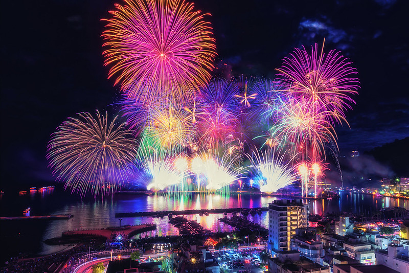 Fireworks 2017 Summer ,Atami  Shizuoka Japan
