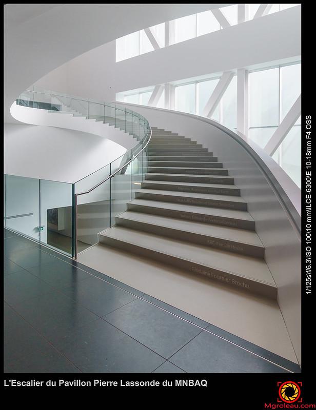 L'Escalier du Pavillon Pierre Lassonde du MNBAQ