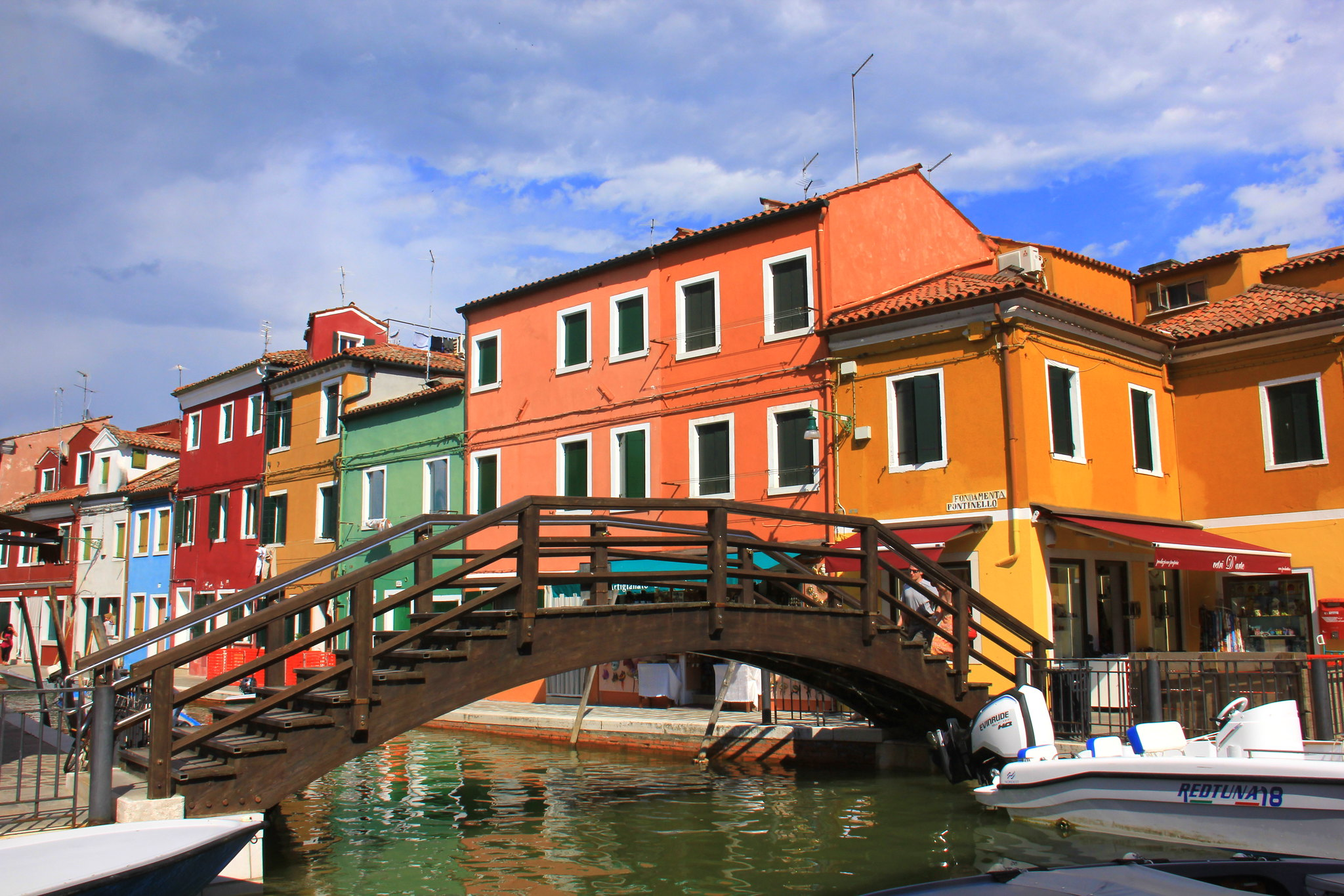 The famous tourist spot of Burano island.