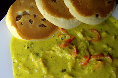 Green Thai Chicken Curry with Buttermilk Pancakes