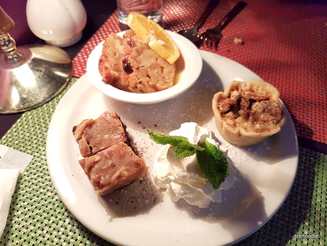 Nawlins Bread Pudding, Pecan Pie, Chocolate Cake