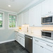 Farm house sink and marble countertops