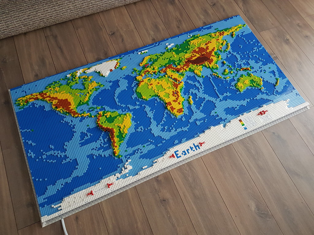 dirks LEGO world map 3 on ground