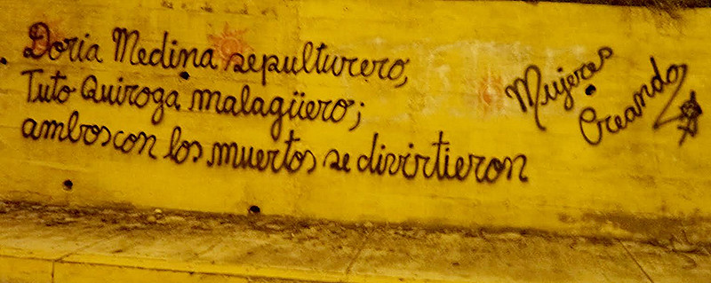 Grafiteada en El Alto