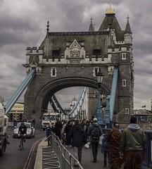 Two bridge towers