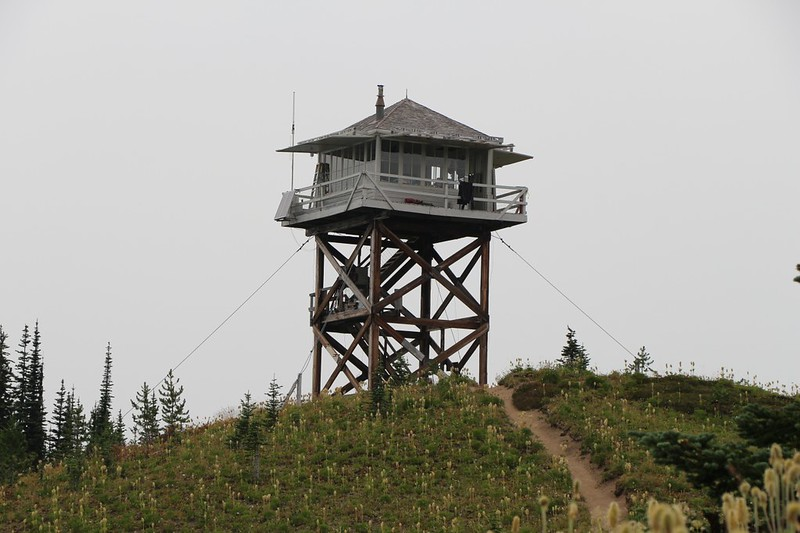 The Miners Ridge Fire Lookout Tower. This is the third version of tower on this spot, built in 1953