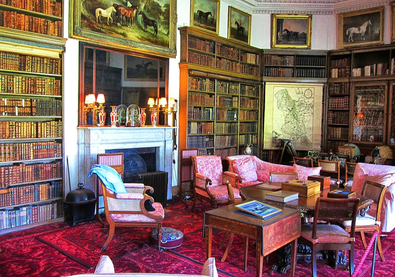 The library at Calke Abbey, Derbyshire. Credit Thomas Quine