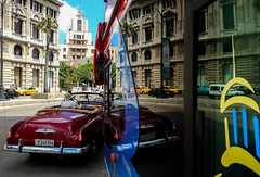 Cuba Cars Reflection