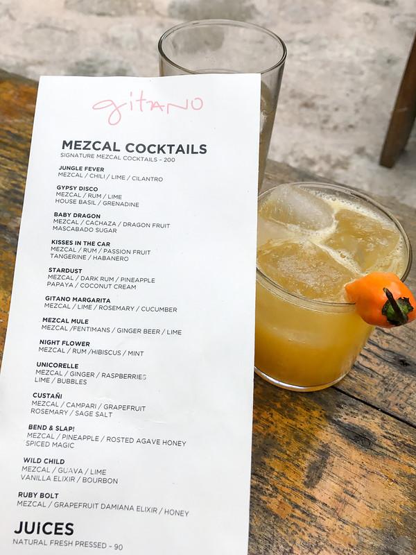 Gitano Cocktail Menu