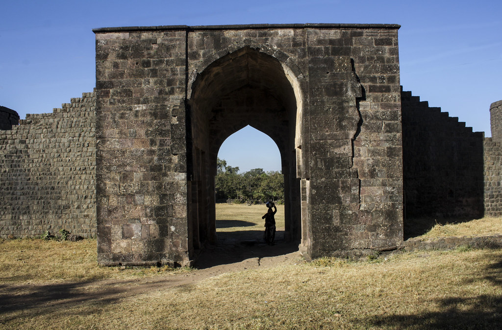 Hathi Pol Gate in Mandu, Madhya Pradesh, India