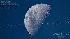 International Space Station Transits Across the Moon During the Day