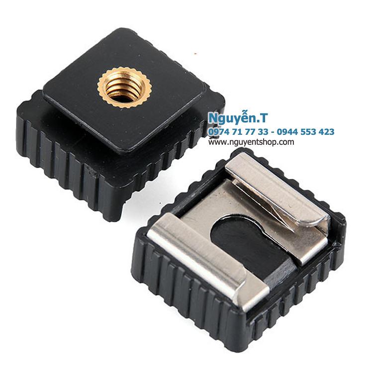 02 Adapter chuyển ốc 1/4 tripod sang chân flash hot shoe SC-6