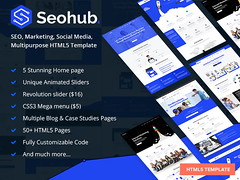 Buy SEOhub – SEO Marketing Multipurpose HTML5 Template | $9.00