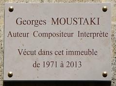 Photo of Georges Moustaki stone plaque