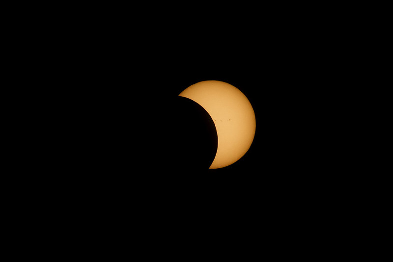 Eclipse With Sun Spots