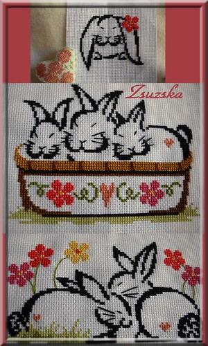 cross stitch, bunnies, Brittercup Design