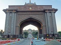 Émirat, d'Abou Dhabi. une entrée grandiose de l'hôtel l'Émirates Palace