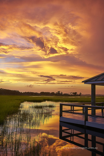 atlantic beach nc usa water reflection dock sunset jetty sony a99ii palm suites