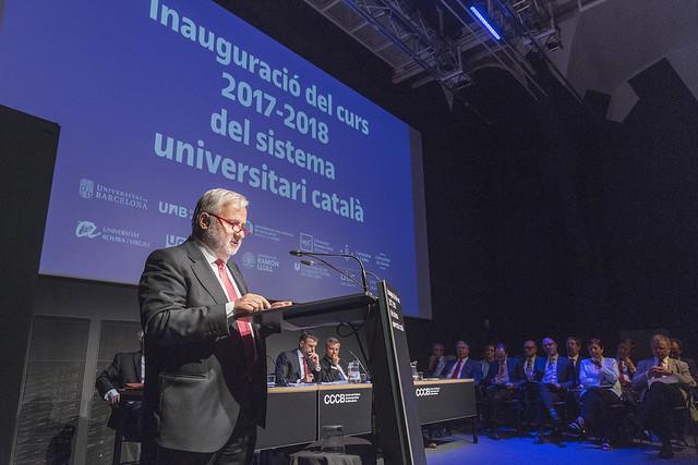 Inauguraci� del curs 2017-2018 del sistema universitari catal�
