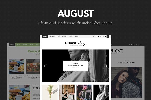 August v1.0 – Elegant Blog Theme