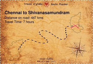 Map from Chennai to Shivanasamundram