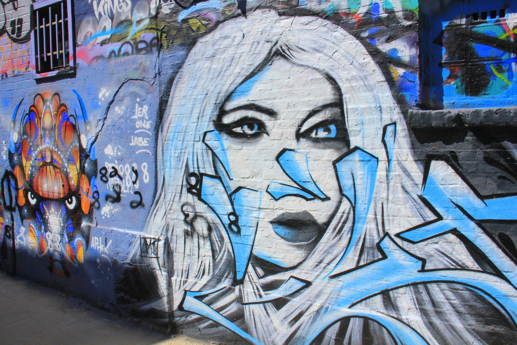 Ghent street art is bold