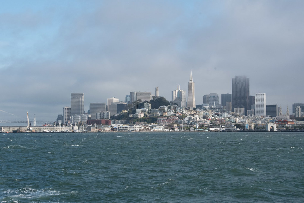 View of San Francisco from Alcatraz Ferry