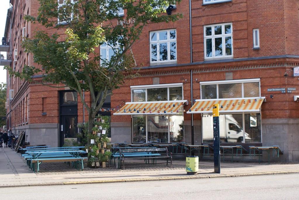 Belle et agréable terrasse du Kølsters Tolv Haner à Copenhague.