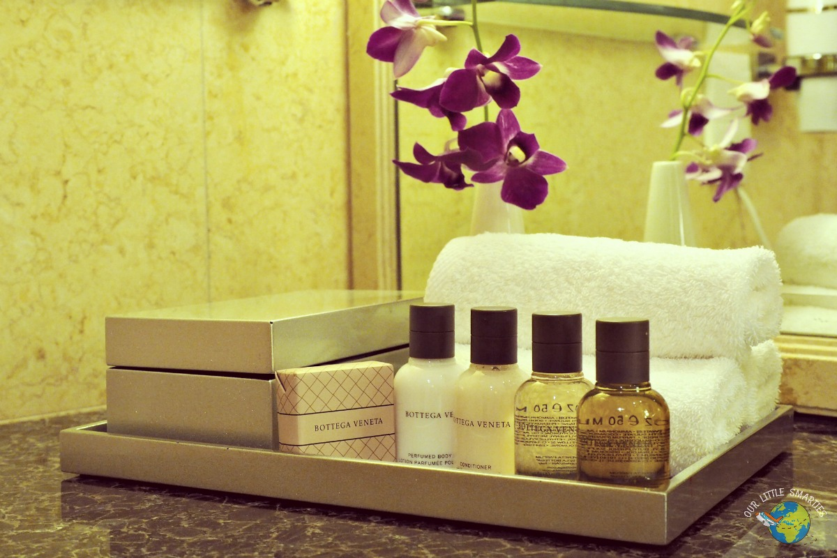 The Fullerton Hotel toiletries