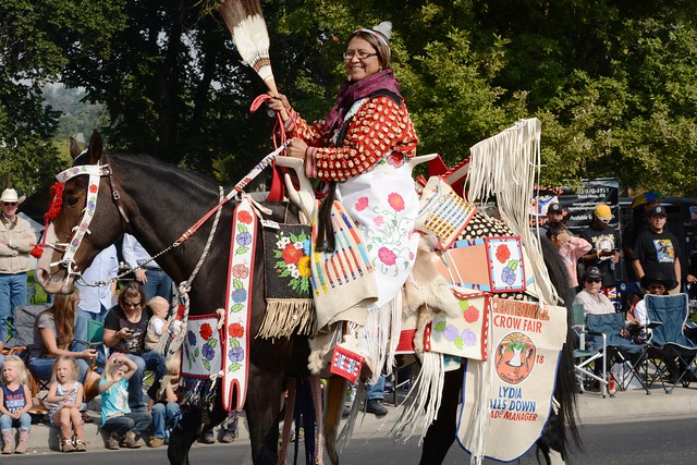 Centennial Crow Fair Lydia Falls Down Parade Manager