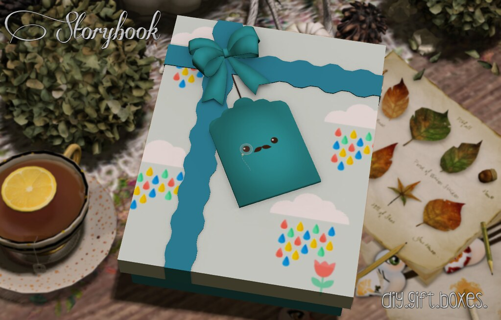 :Storybook: diy gift box [moustache]