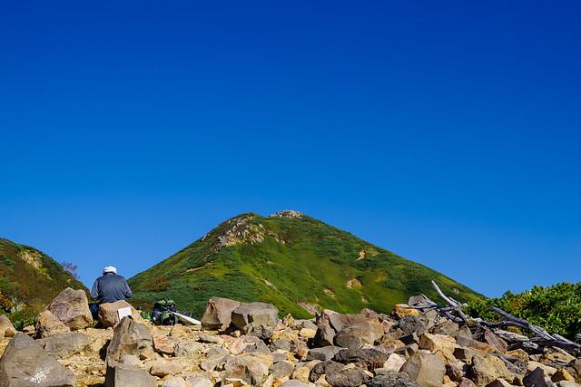 俎嵓を仰ぐ@ミノブチ岳