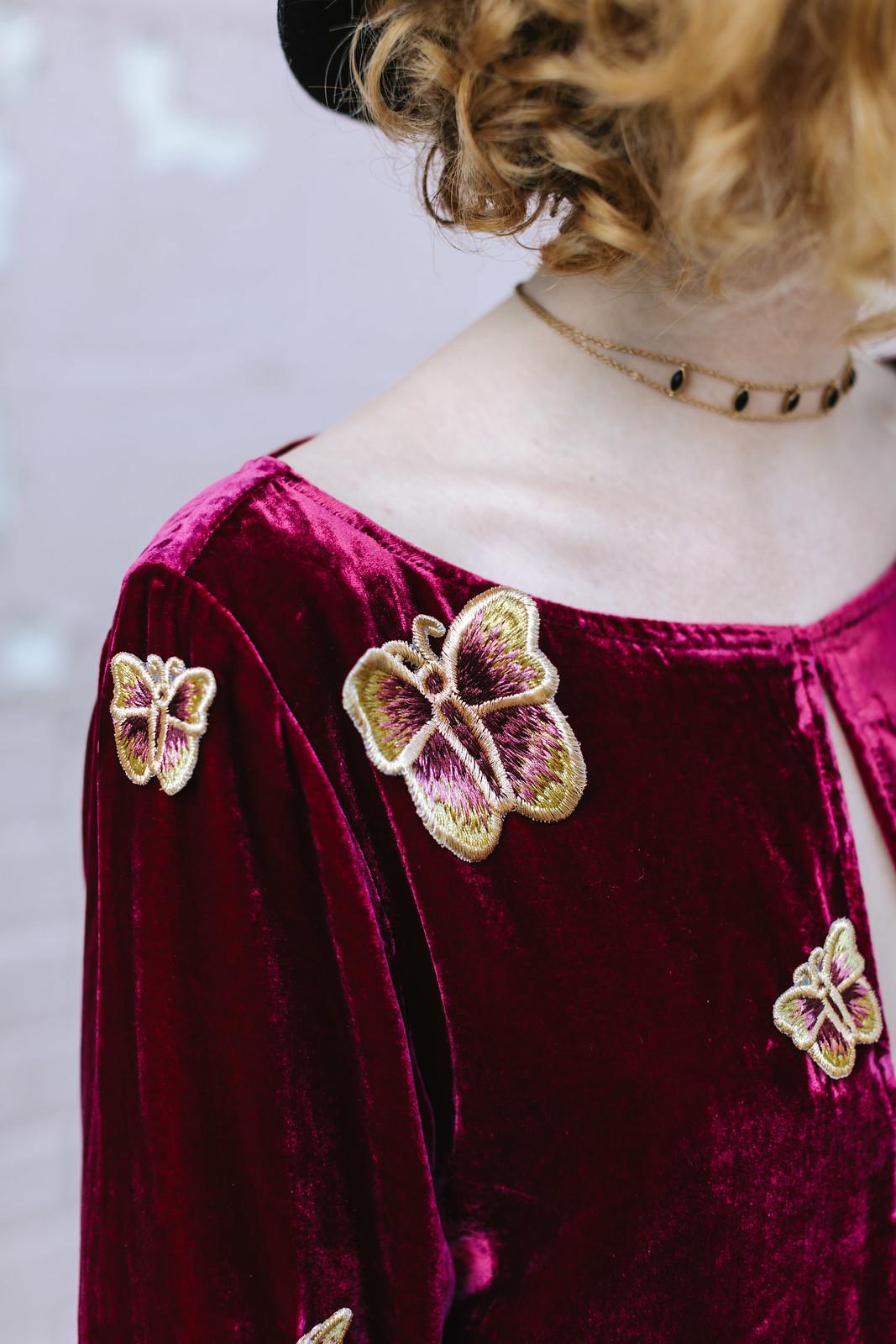 Butterfly embroidery on juliettelaura.blogspot.com