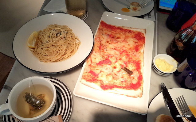 Pizza Express in Shatin lunch spread