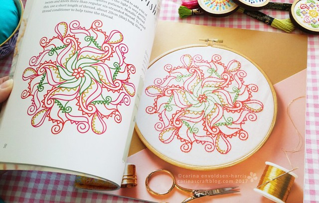 Poinsettia Flourish spread - Mandalas to Embroider