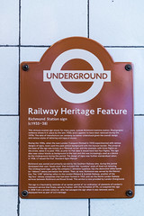 Photo of Edward Johnston brown plaque