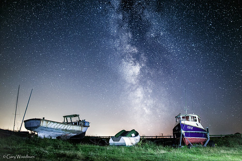 Midnight Boats - Milky Way, Low Newton by the Sea, Northumberland