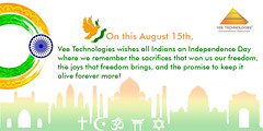 Vee Technologies Wishing all 71st Happy Independence Day - 2017