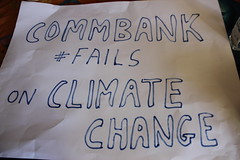 Commbank Fails on climate change sign