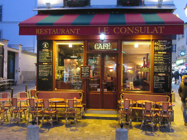 Restaurant in Montmartre, Paris